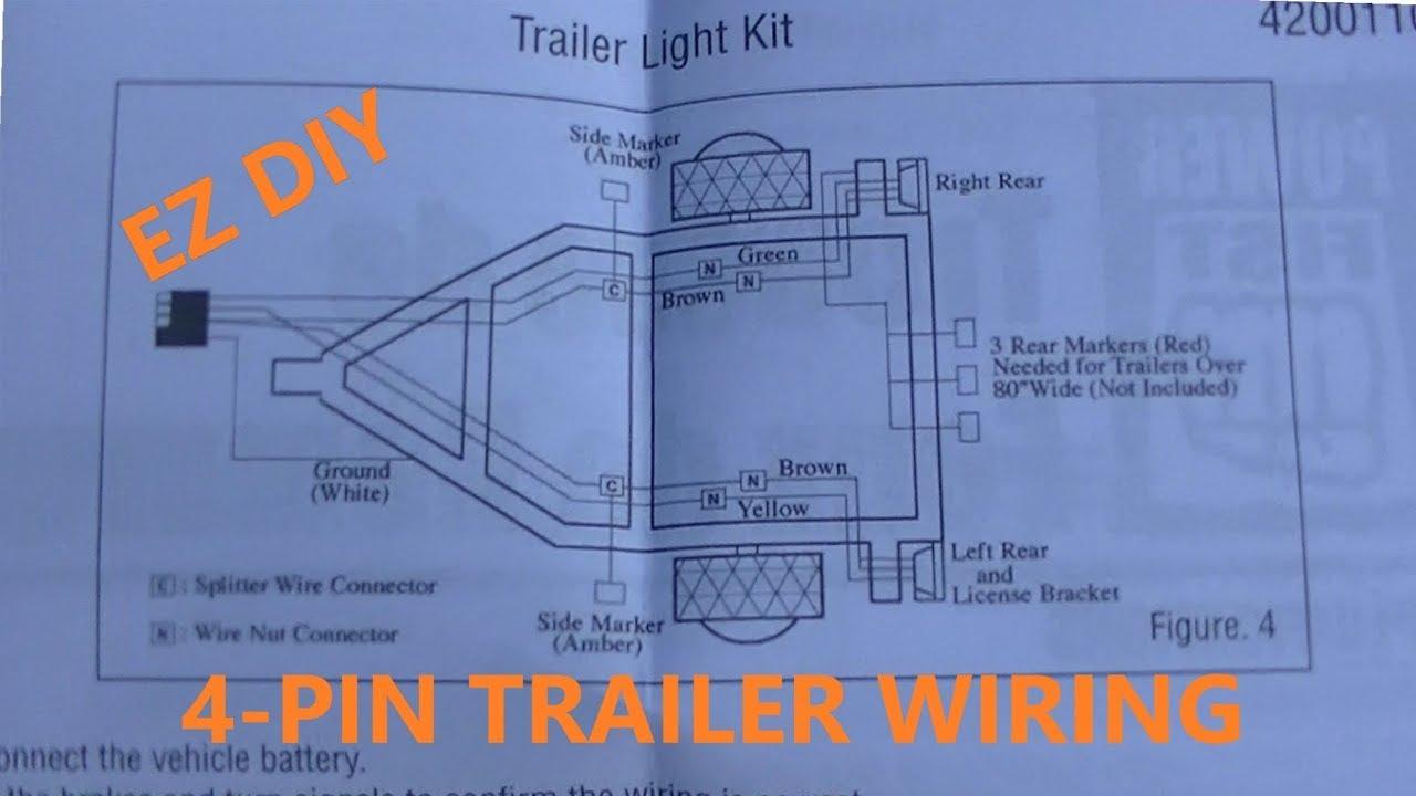 medium resolution of 4 pin trailer wiring install diy plus wiring diagrams