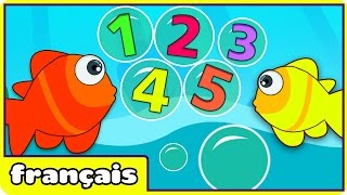 Learn Numbers in French - Numéro Chanson: 12345 Once I Caught A Fish Alive in French : Comptine