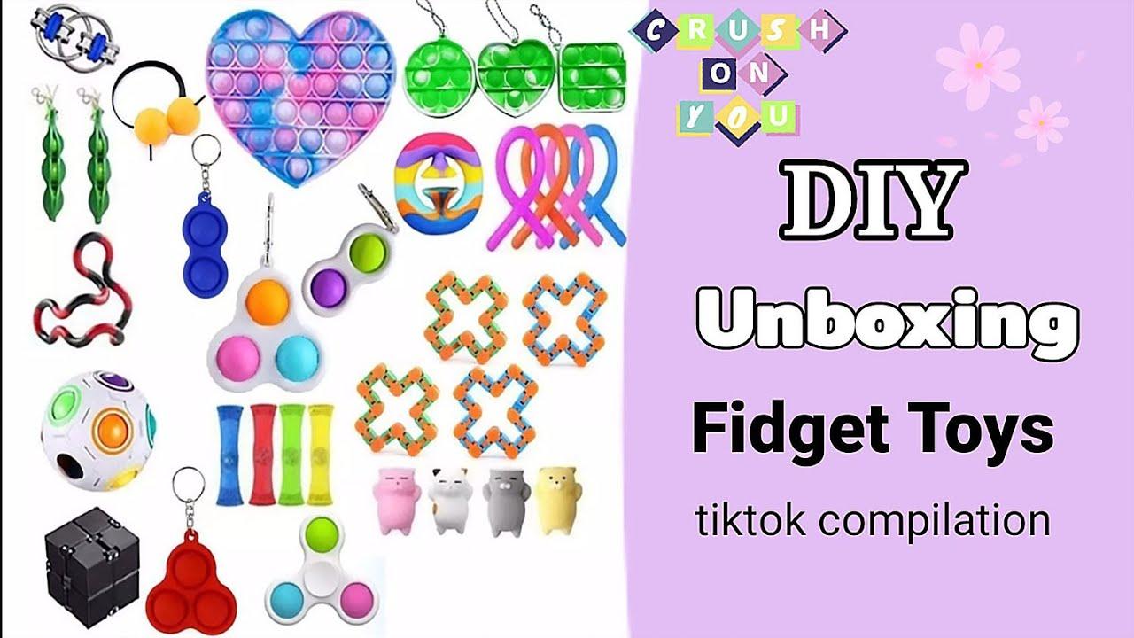 Unboxing Fidget Toys tiktok Compilation - Unboxing 2021 | DIY POP IT