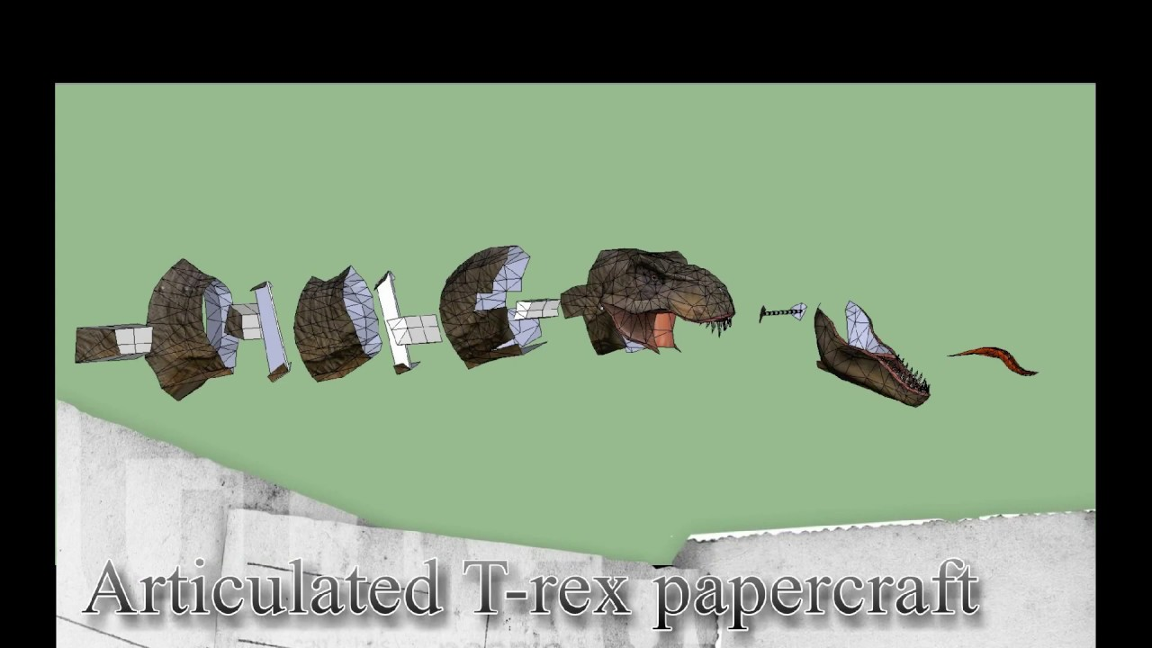 Papercraft Trex Articulated Papercraft