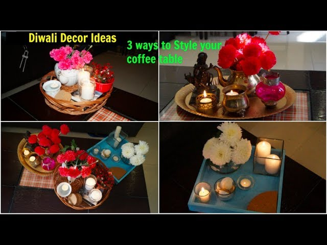 3 Easy Diwali Decoration Ideas Decorate Centre Table Organizopedia Youtube
