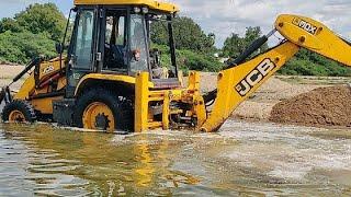 jcb machine excavator machine Pulling river | JCB machine pulling | Come For Village | #CFV |