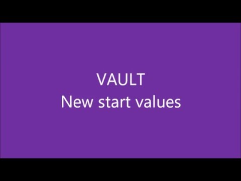 WAG Code of Points 2017-2020 - Vault - New start values