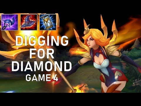 THE BEST WAY TO ONE SHOT A CHAMP!! - Lux Mid - Digging for Diamond Game 4 - League of Legends