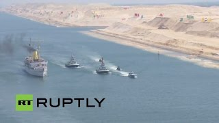LIVE: Opening of the Suez Canal's new waterway