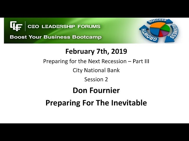 2019 02 07 CEO Leadership Session 02 Fournier