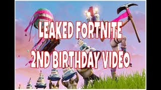 LEAKED FORTNITE BIRTHDAY TRAILER CHALLENGES YEAR 2 FORTNITE BATTLE ROYALE