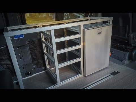 kitchen cabinets do it yourself extruded aluminum galley framing diy sprinter camper 8020