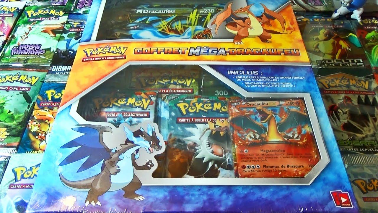 Ouverture Du Coffret Pokémon Mega Dracaufeu X Ex Français Mega Dracaufeu X Ex Gigantesque