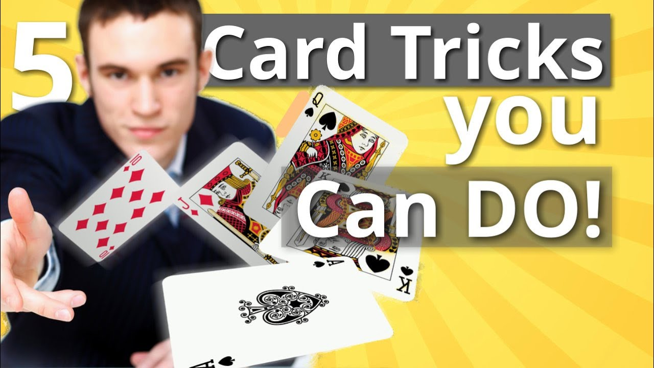 5 easy card tricks that anyone can do  learn these