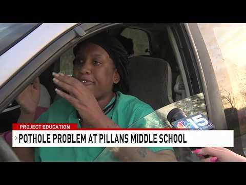 Pothole problem resurfaces at Pillans Middle School - NBC 15 WPMI