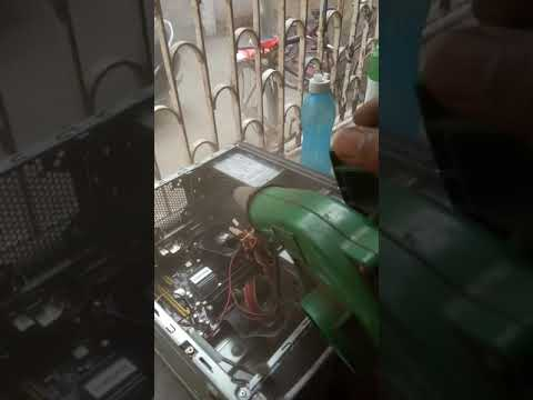 Computer dust Cleaning up