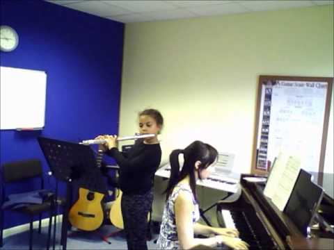 Flute Student  Awake my love  Brahms   A to G Music School  Sutton  Teacher  Lessons