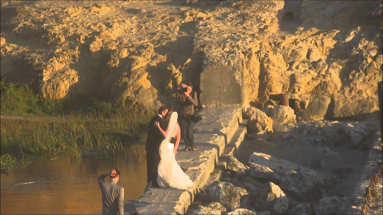 Trash the wedding dress - YouTube