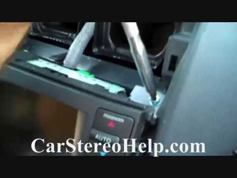 How to Acura TL Bose Car Stereo Removal 2004 - 2008 repalce repair