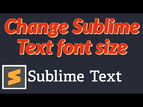 How To Change The Font Size In Sublime Text
