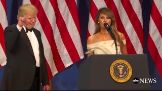 First Lady Melania Trump Speaks at Inaugural Ball | ABC News