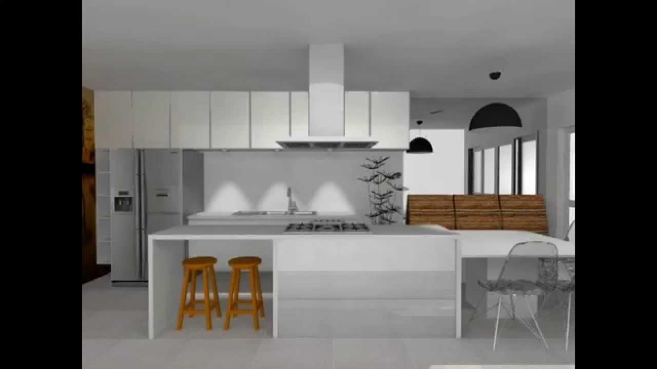 COZINHA ESTREITA COM ILHA  Dicas de Arquitetura  YouTube # Cozinha Com Ilha Estreita