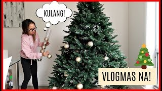 PUTTING UP OUR CHRISTMAS TREE! ❤️ VLOGMAS DAY 1 | rhazevlogs