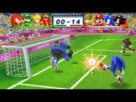 Mario & Sonic At The London 2012 Olympic Games Football Bowser Jr, Mario, Sonic and Shadow