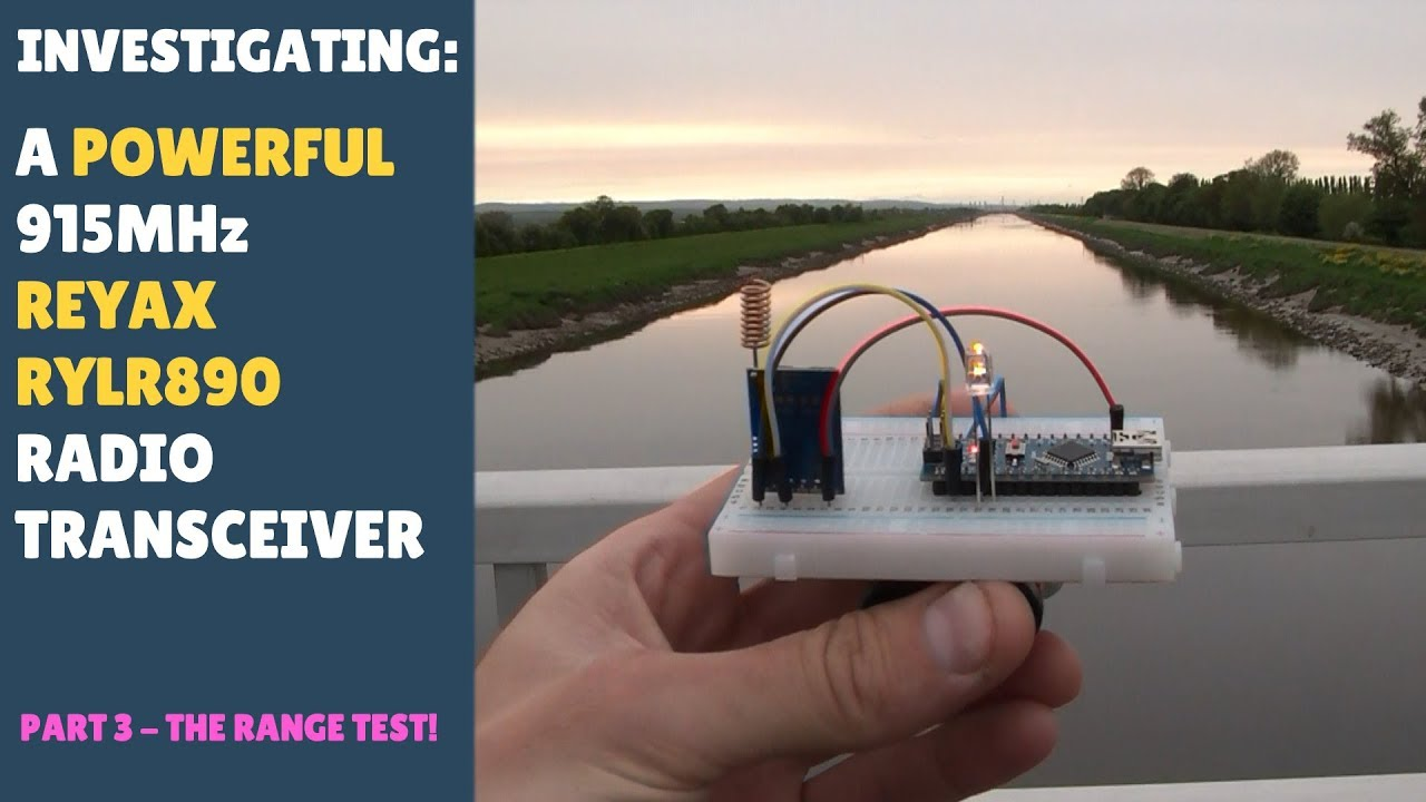Testing Long Range Wireless 915Mhz RF LoRa Transceiver Module REYAX RYLR890  RYLR896 Arduino Part 3 by Antony Cartwright