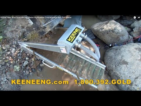 KEENE Mini Max Gold Mining Sluice Highbanker Concentrator wi
