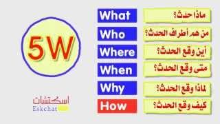 كيف تكتب الخبر الصحفي؟ (1) أسئلة 5W+H | دورة فنون التحرير الصحفي