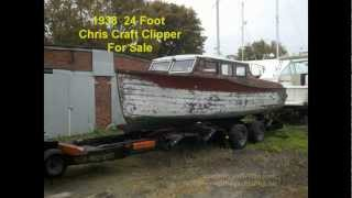 Vintage Antique 1938 Chris Craft Clipper For Sale