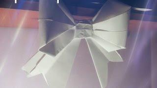 Как сделать бант из бумаги своими руками. Видео урок Оригами