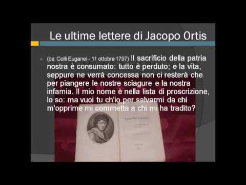 Le Ultime lettere di Jacopo Ortis seconda parte dell' introduzione