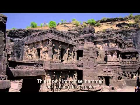 Ellora Caves. Cave 16 -The Kailasa Temple.