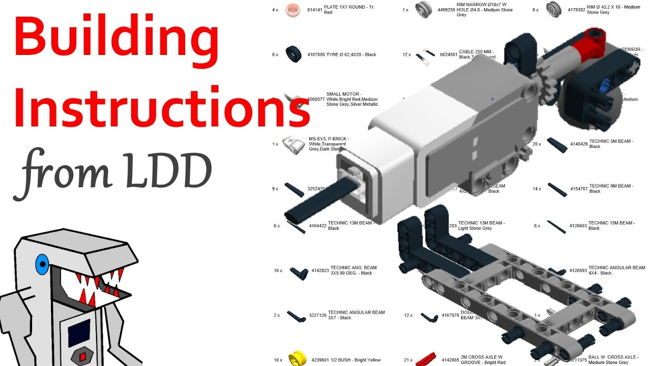 How To Get Building Instructions And Bom From An Ldd Model Youtube