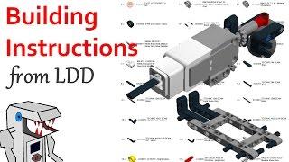 Comment Obtenir des Instructions pour la Construction et la NOMENCLATURE à partir d'un Modèle LDD