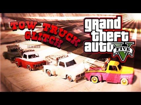 GTA 5 Online - HILARIOUS GLITCH (Tow Truck...