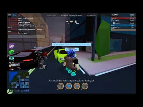 Killer on the unknown/ ROBLOX JailBrake how to rob bank