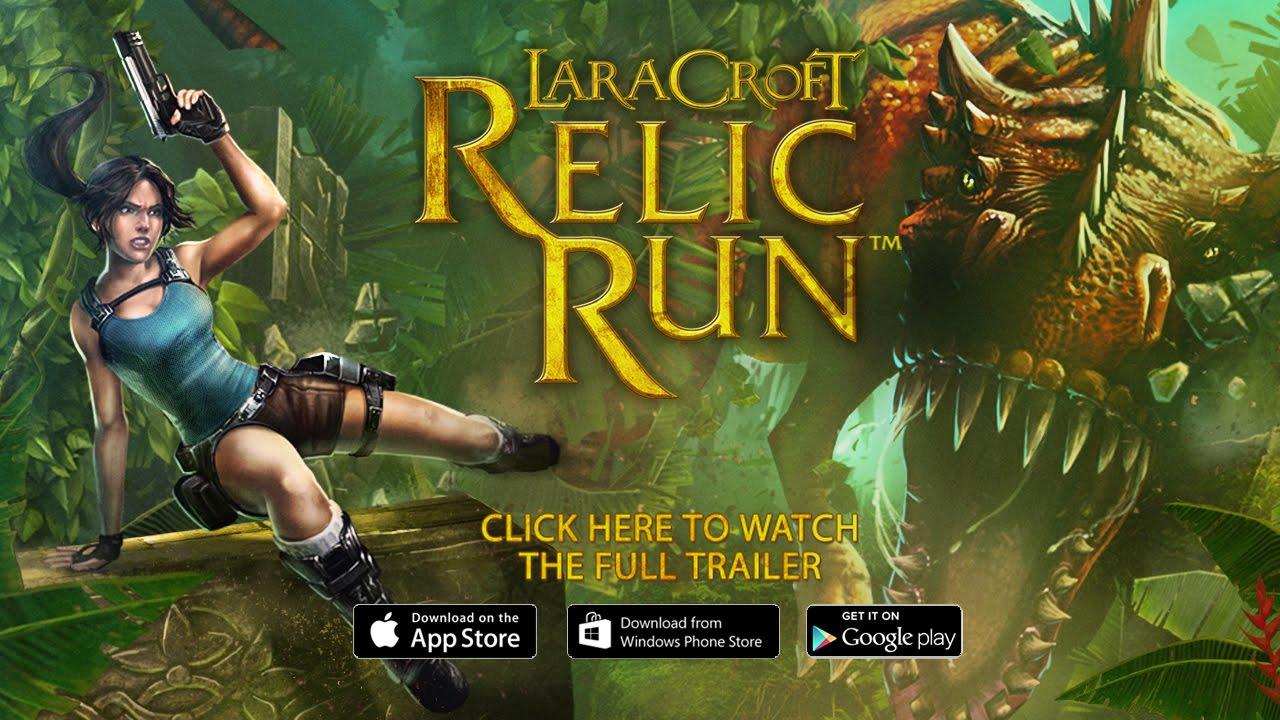 New lara croft: relic run content announced, as downloads hit 10m.