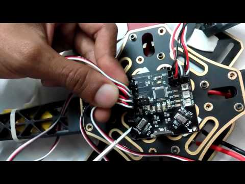 KK Multicopter control board V 5.5 Setting Startup Flying Controller Programming