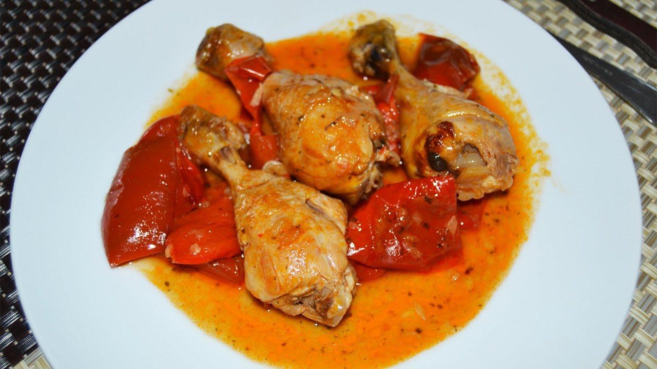 Muslitos de pollo guisados con pimientos recetas de - Platos de pollo faciles ...