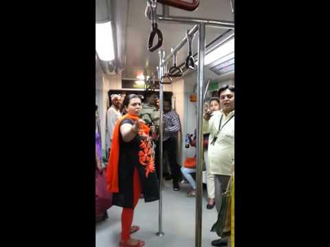 Ladies Compartment in Delhi Metro.(1)
