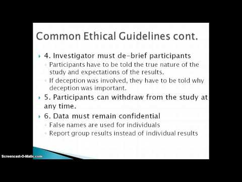 Ethical Standards in Psychology