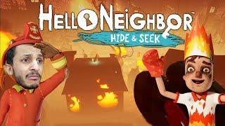 الجار النفسيه #3 | البيت انحرق كامل! Hello Neighbor Hide and Seek #3