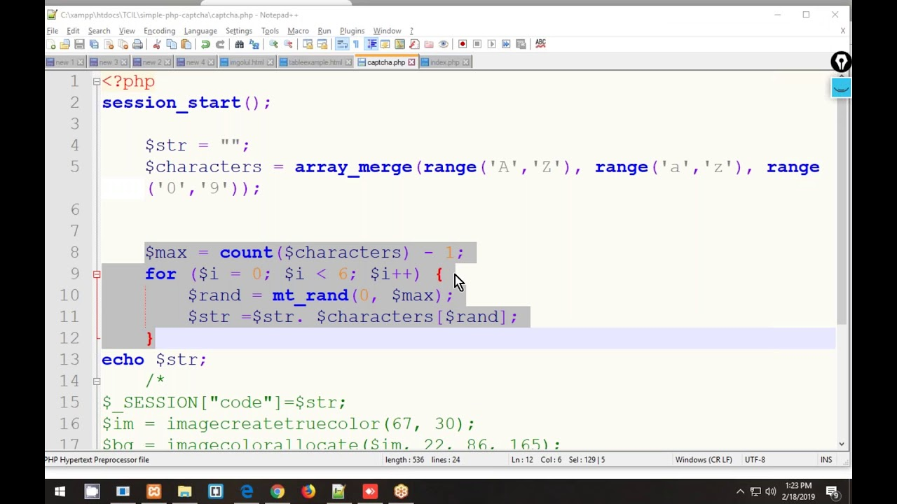 PHP 9  Simple captcha | Coding For Dummies