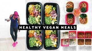 Here's an easy vegan/ plant based meal prep. i prepared all 3 of my meals by the way. + overnight oatmeal chia seeds burrito (beans, spinach and pico de ...