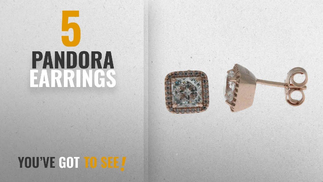 131d8759cbf5d 10 Best Pandora Design Earrings: PANDORA Timeless Elegance Stud Earrings,  PANDORA Rose & Clear CZ