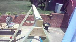 How to build an A frame for a porch swing, chapter 3.