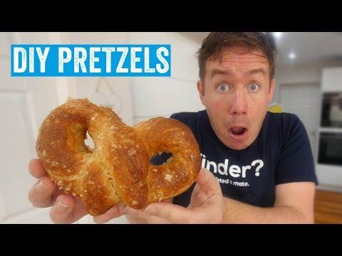 I made soft baked pretzels!