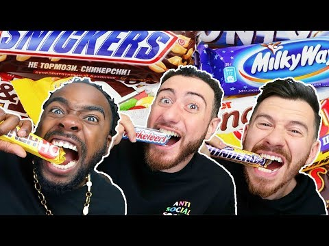 TASTE TESTING EVERY CHOCOLATE BAR EVER MADE (ULTIMATE CHOCOLATE BAR CHALLENGE)