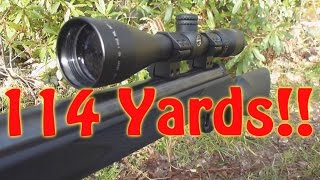 114 Yards! Shooting the Frying Pan With Air Rifle (SYNSG)