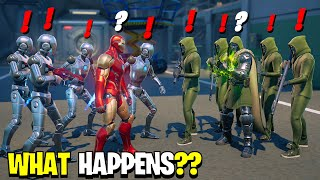 What Happens if Iron Man's Army Meet Doom's Army in Fortnite! - Civil War Fortnite
