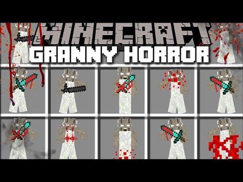 Minecraft GRANNY HORROR MOD / FIGHT OFF GRANNY HORROR AND SURVIVE!! Minecraft